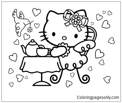 413x348 Tea Party Coloring Pages For Bruins Logo Coloring Page Tea Party