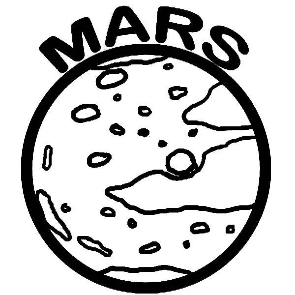 600x600 Space Object Planet Mars Coloring Pages Color Luna