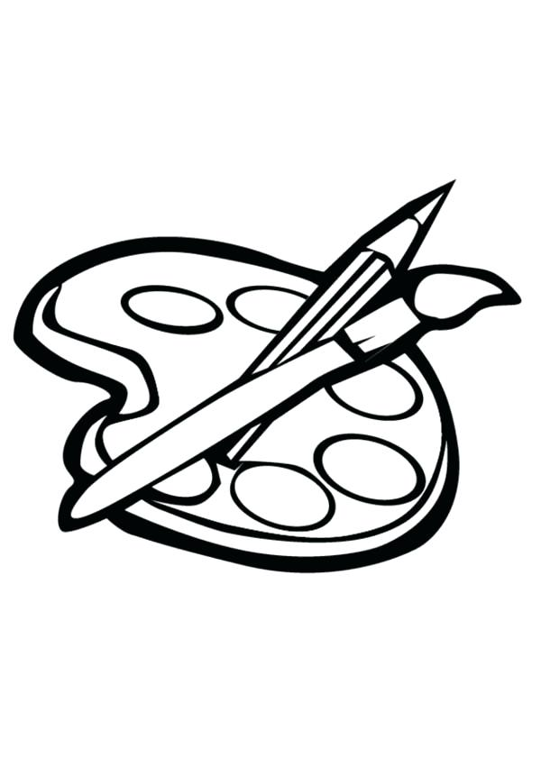 600x851 Paint Brush Coloring Page How To Paint Coloring Page Paintbrush