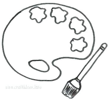 375x341 Paint Brush Coloring Page Paint Brush Coloring Page Coloring Page