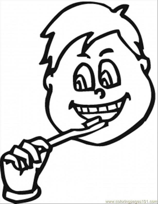 650x842 Brush Teeth Coloring Page