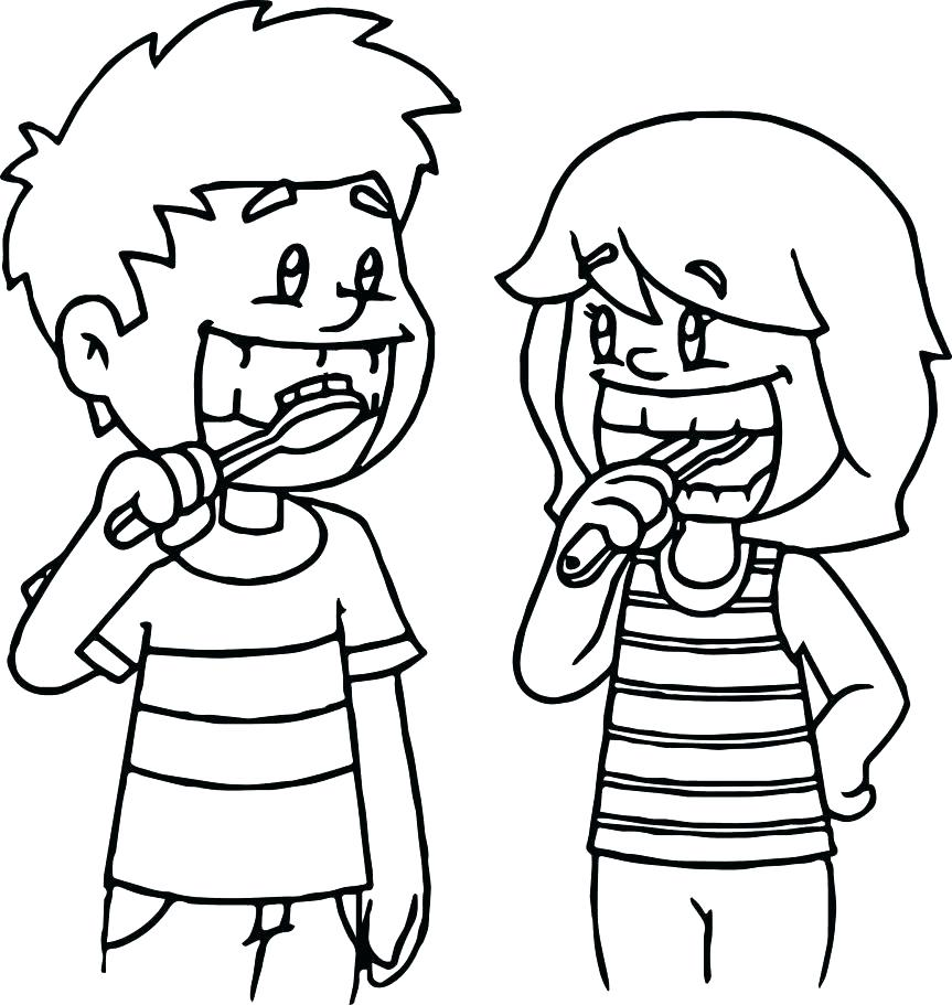 863x911 Paint Brush Coloring Page Teeth Brushing Coloring Pages Coloring