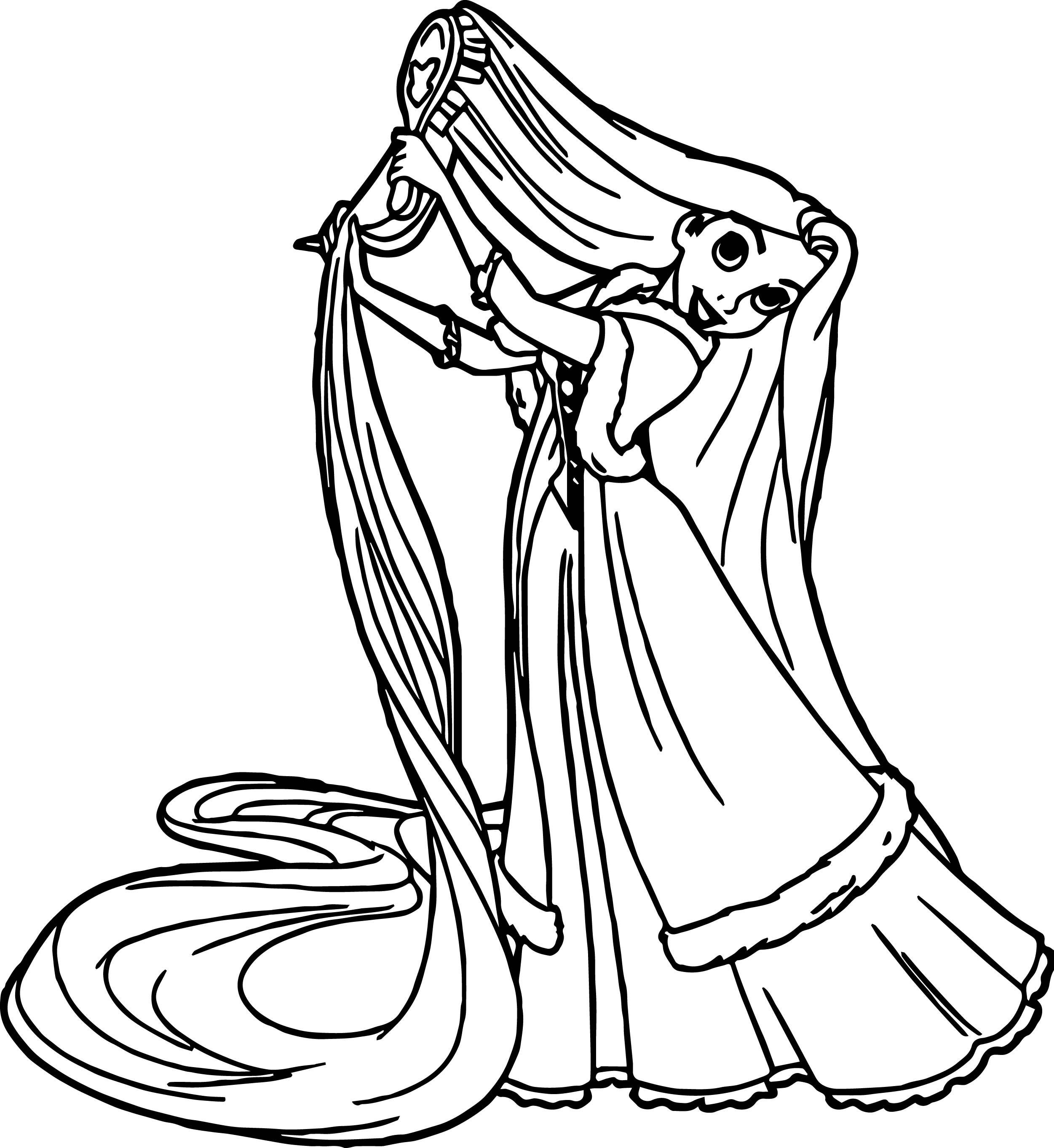2502x2726 Princess Brush Hair Coloring Page Wecoloringpage Hair Coloring