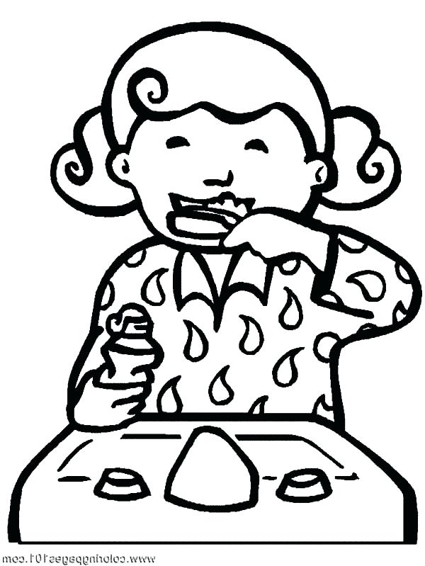 600x799 Tooth Brushing Coloring Pages Tooth Coloring Page Brush Your Teeth
