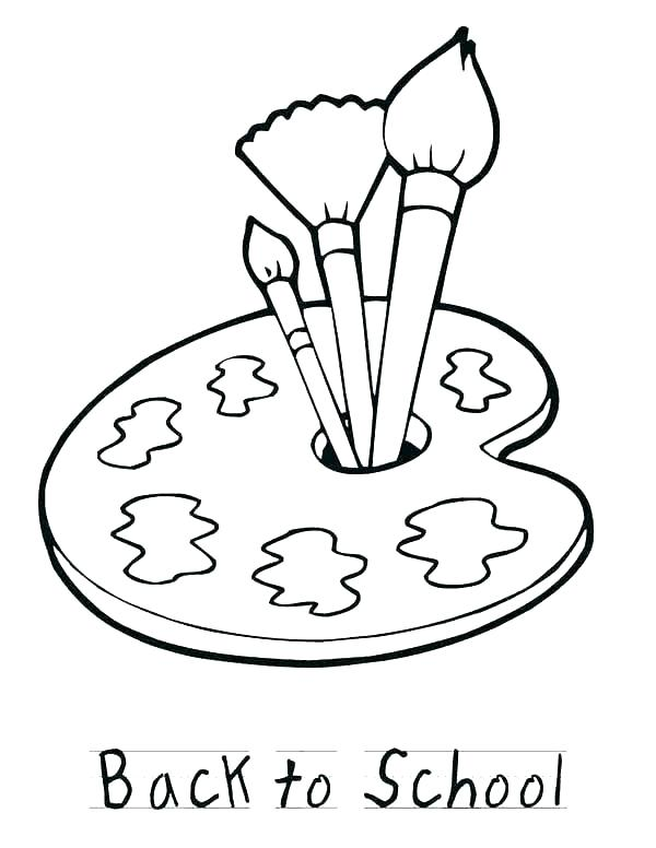 600x776 Coloring Paint Brush Coloring Page Pages Painting Free Paint