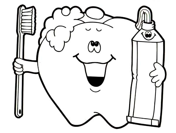 600x453 Brushing Teeth Coloring Pages Brush Your Teeth Coloring Pages Get