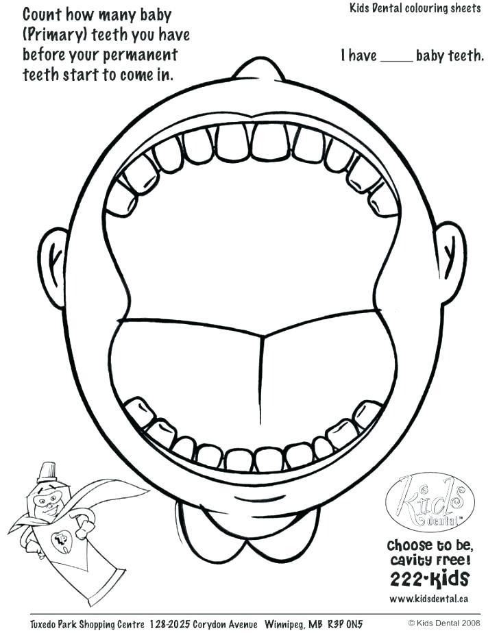728x924 Teeth Printables Dental Coloring Pages For Kids Preschool Dental