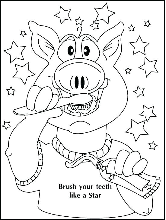 Brushing Teeth Coloring Page at GetDrawings.com | Free for personal ...