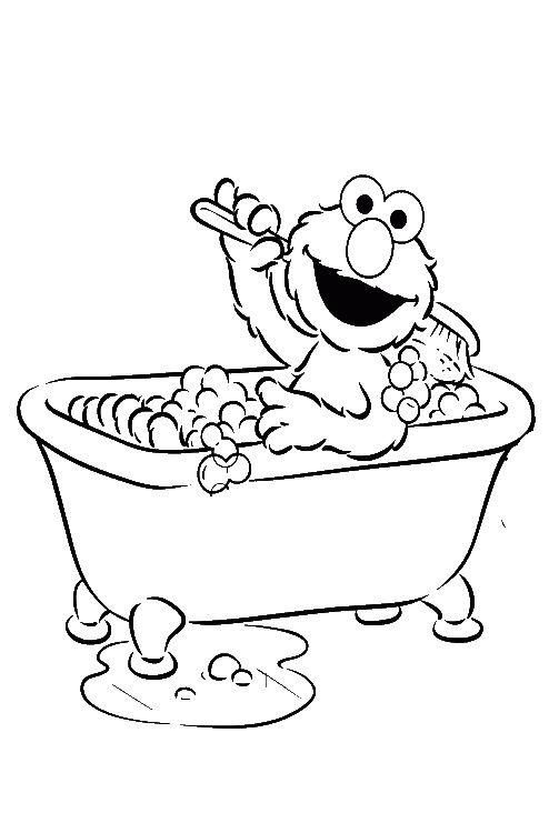 Bubble Bath Coloring Pages