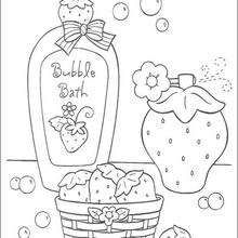 220x220 Strawberry Shortcake Having A Bubble Bath Coloring Pages