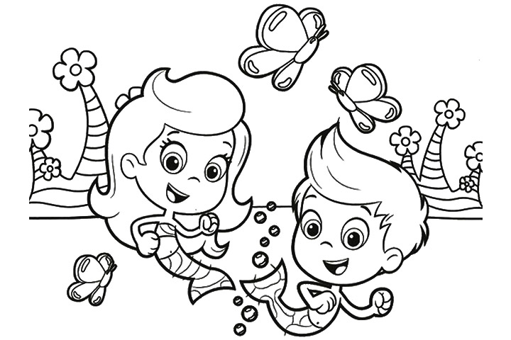 Bubble Coloring Pages Printable