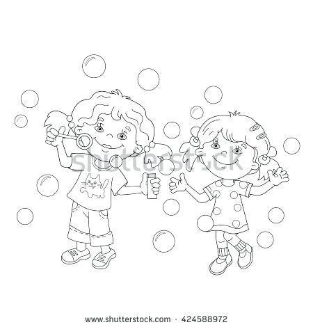 450x470 Bubbles Coloring Page Coloring Page Outline Of Cartoon Girls