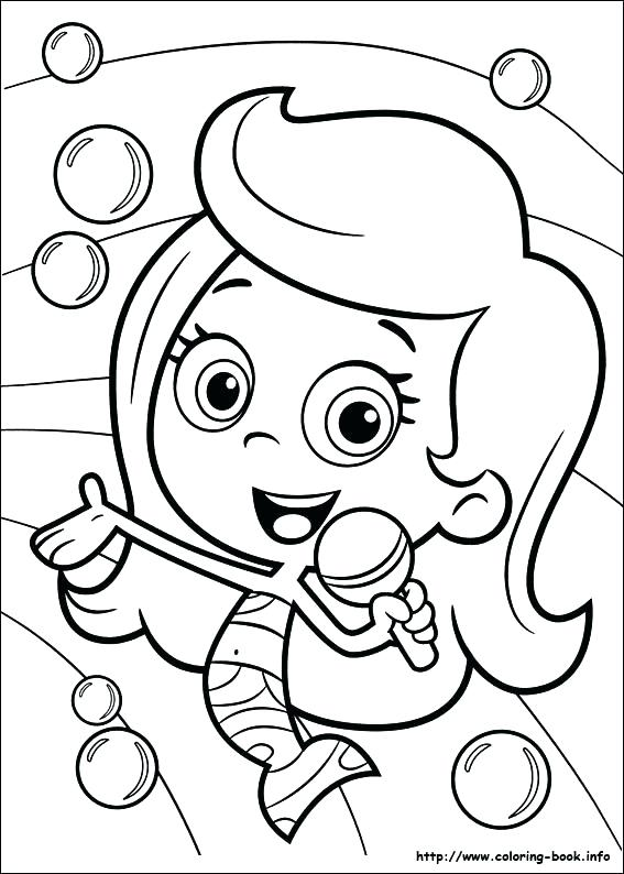 567x794 Bubbles Coloring Pages A Coloring Pages Bubble Guppies Colouring