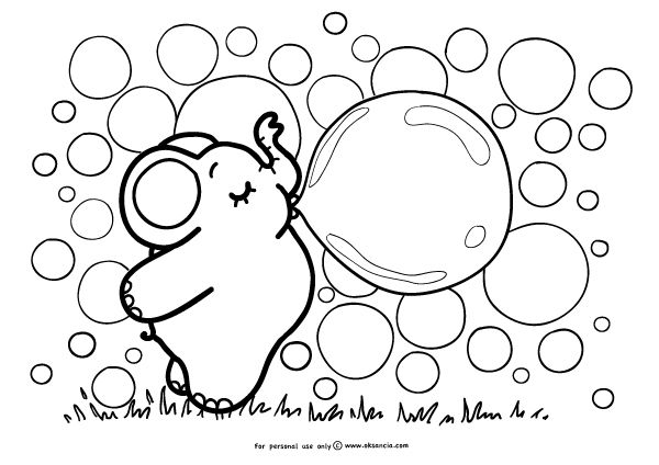 600x424 Bubbles Coloring Pages Bubblegum Or Bubble Worksheets Bubbles