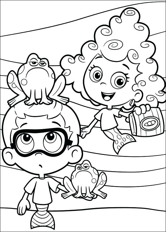567x794 Bubbles Guppies Coloring Pages