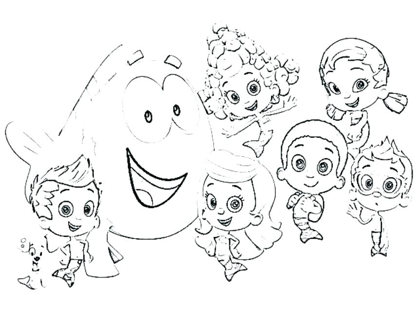 863x647 Bubble Guppies Coloring Page Bubble Guppies Coloring Pages