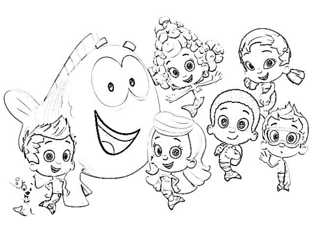 1024x768 Printable Bubble Guppies Coloring Pages Bubble Guppies Coloring