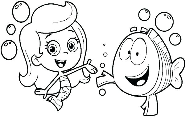 600x400 Bubble Guppies Coloring Pages Bubble Guppy Coloring Pages Bubble