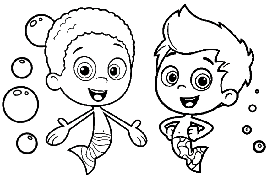 850x567 Bubble Guppies Coloring Pages Free