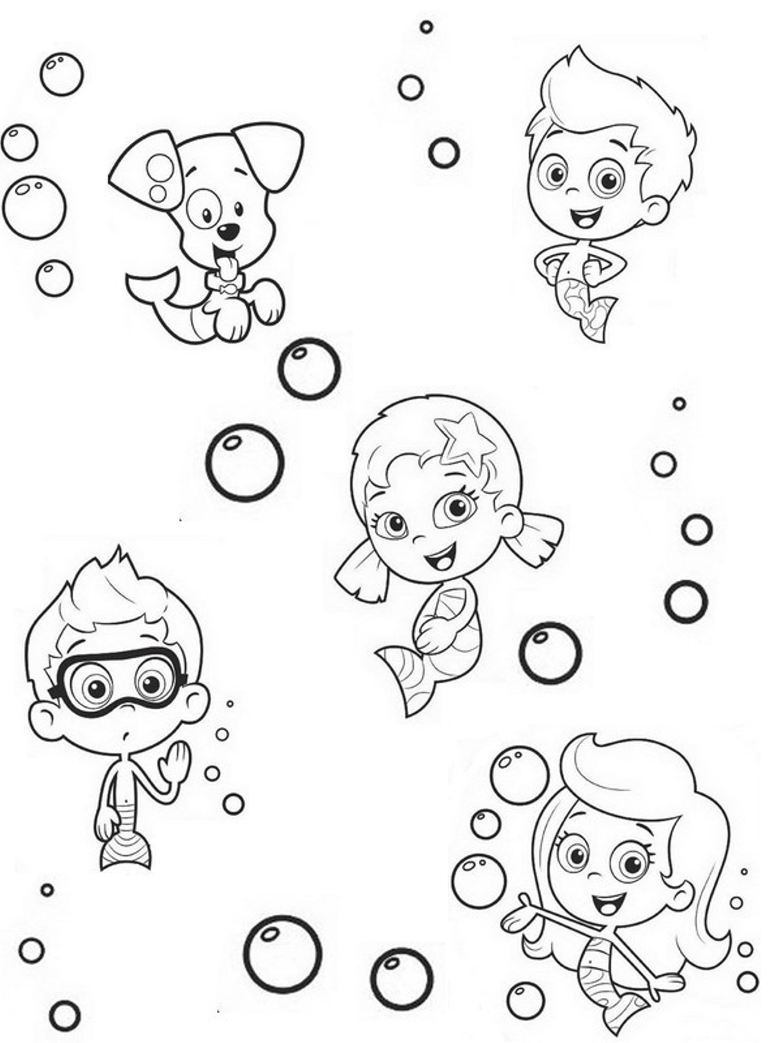 1134x1512 Bubble Guppies Coloring Pages Inspiring Guppy Best Design