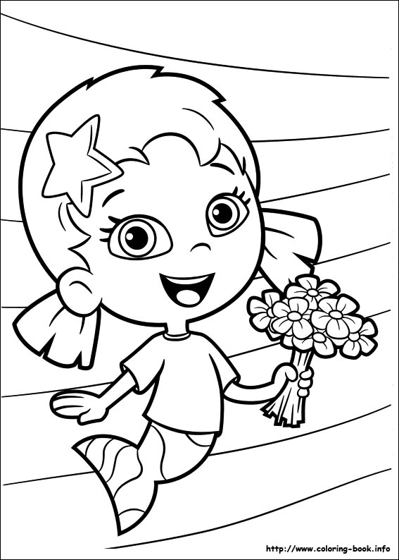 567x794 Bubble Guppies Coloring Picture