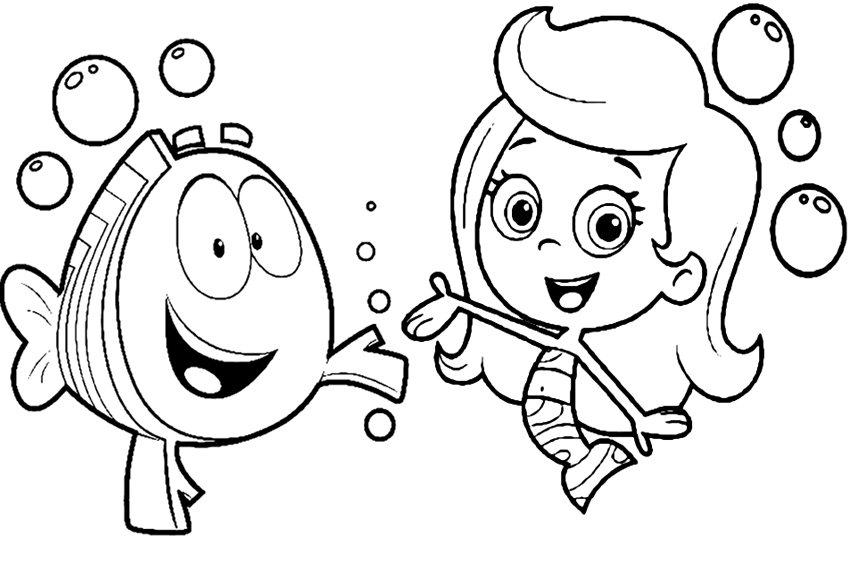 850x567 Bubbles And Guppies Coloring Pages