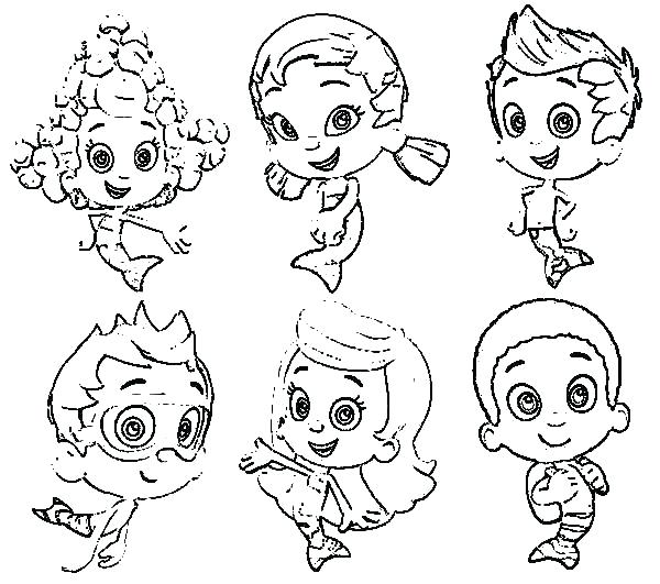 600x531 Coloring Pages Characters Extraordinary Astonishing Bubble Guppies