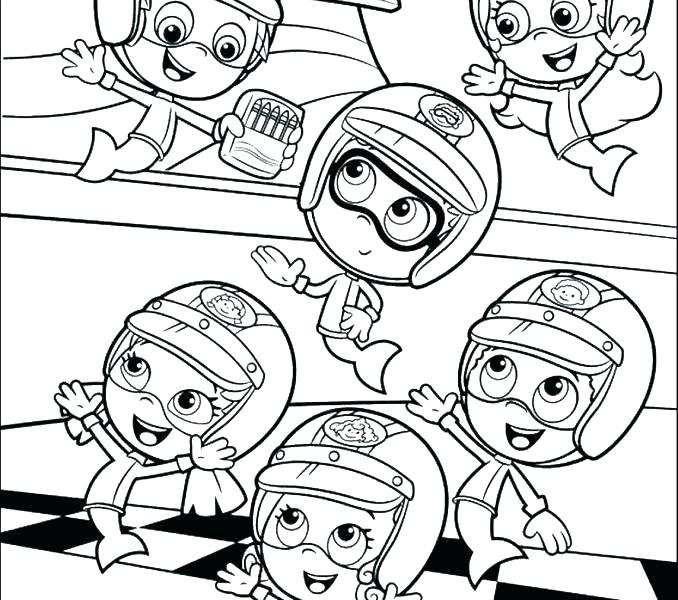 678x600 Bubble Guppies Coloring Page Bubble Guppies Printable Coloring