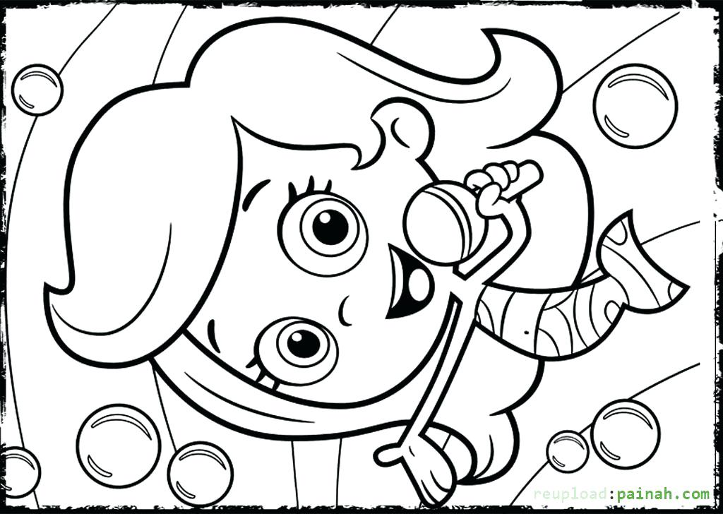 1024x728 Bubble Guppies Coloring Pages Molly Singing Coloring Pages Bubble