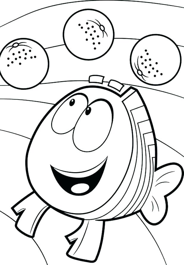 618x888 Bubble Guppies Coloring Sheets Bubbles Coloring Page As Bubble