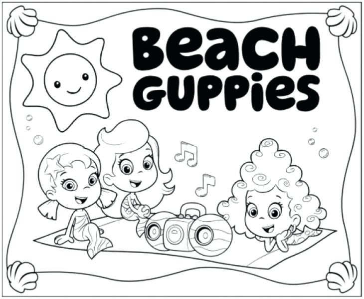 730x599 Bubble Guppies Molly And On Picnic Coloring Page Bubble Guppies