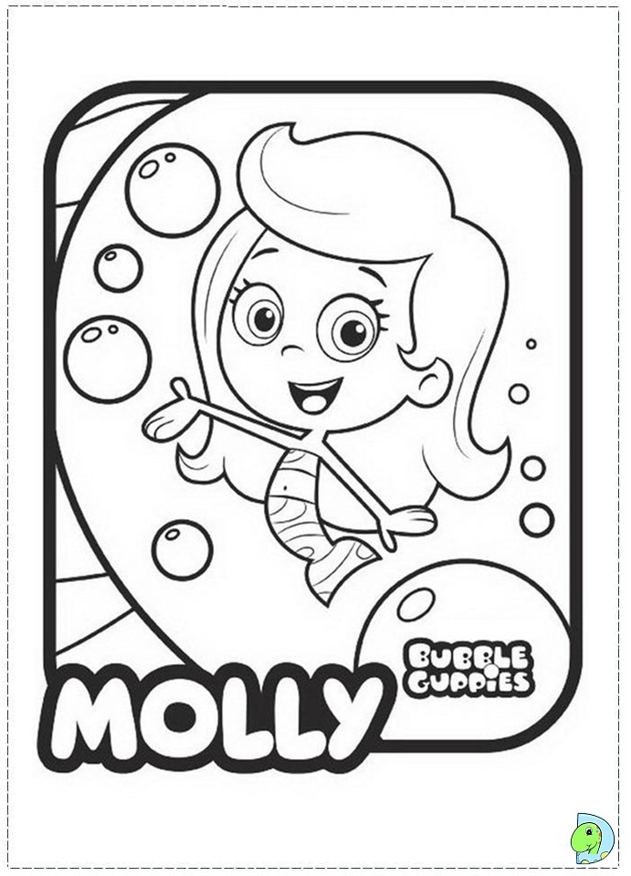 691x960 Bubble Guppies Molly Coloring Pages Free Bubble Guppies Molly