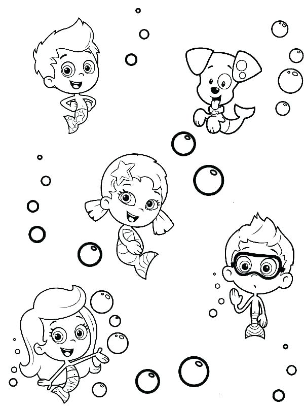 600x800 Bubble Guppies Colouring Pages To Print Bubble Guppy Coloring