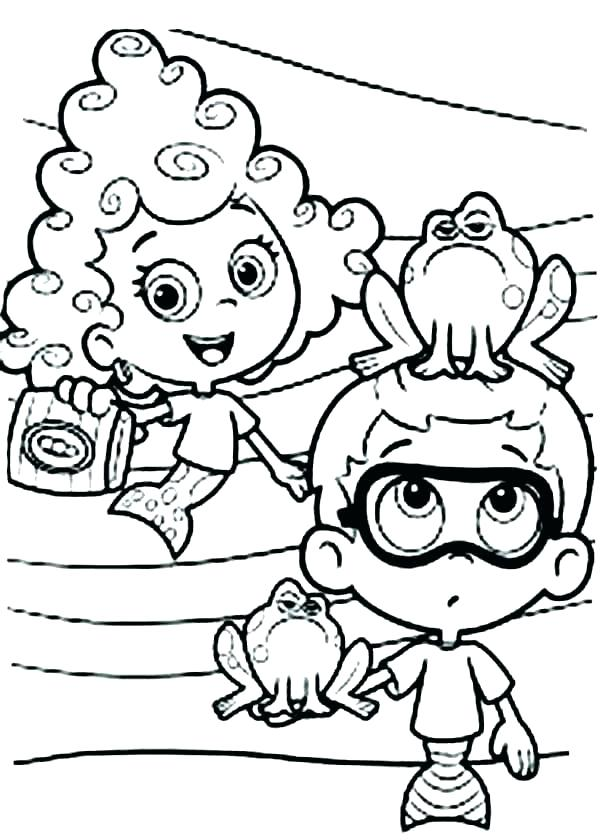 600x840 Bubble Guppies Printable Coloring Pages Molly And Bubble Guppies