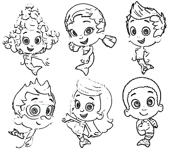 600x531 Bubble Guppies Printable Coloring Pages Nick Jr Coloring Pages