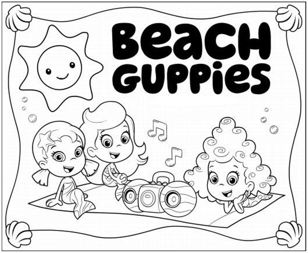 1000x822 New Bubble Guppies Printable Coloring Page Coloring Page Pedia