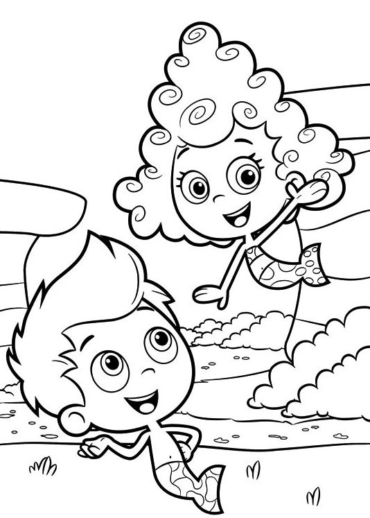 534x747 Printable Bubble Guppies Coloring Pages Coloring Me