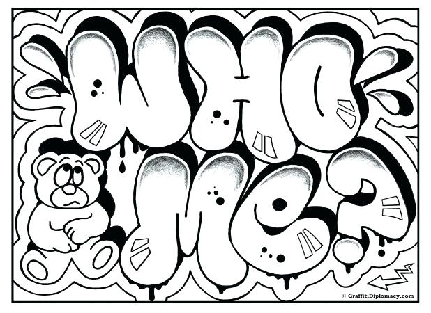 618x450 Letter Coloring Pages Free Page Graffiti G Diplomacy Astounding