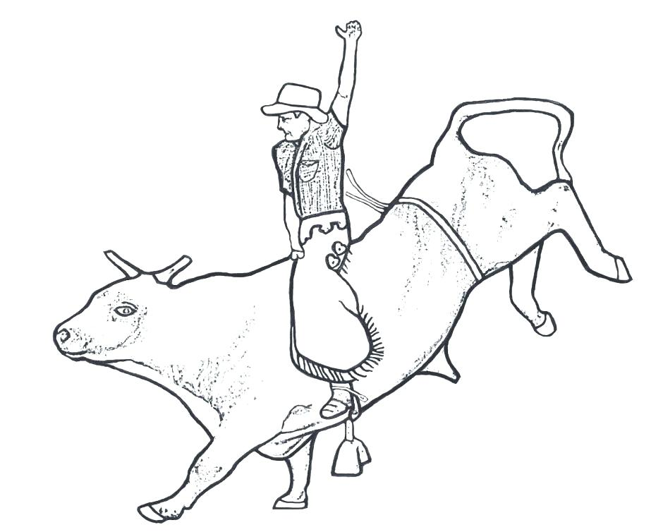 940x754 Bull Coloring Page Bucking Bull Coloring Page Red Bull Colouring