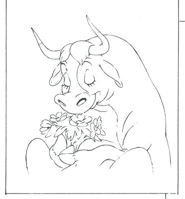372x400 Bull Coloring Page The Bull Coloring Pages And Comic Art The Free