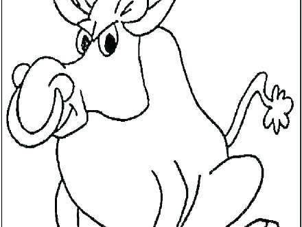 440x330 Bull Rider Coloring Pages Cowboy On Bucking Bull Line Art Color