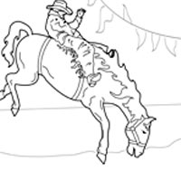 200x200 Bucking Bronco Coloring Pages Surfnetkids