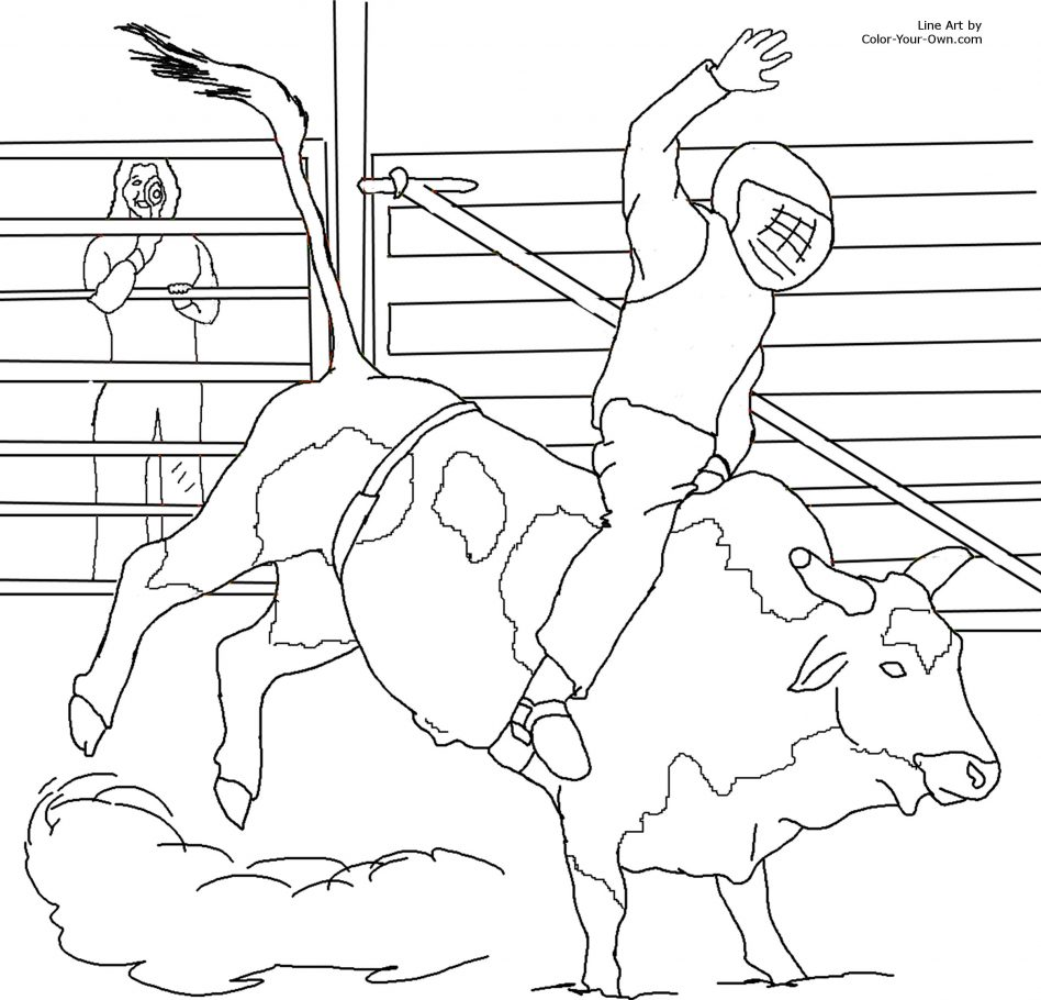 948x910 Rodeo Bucking Bull Coloring Pictures Mini Bulls Free And Pages