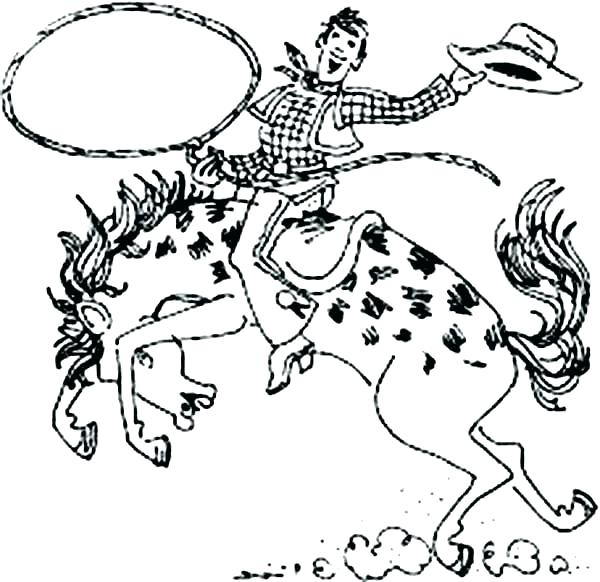 600x582 Rodeo Coloring Pages Rodeo Coloring Pages Rodeo Coloring Pages