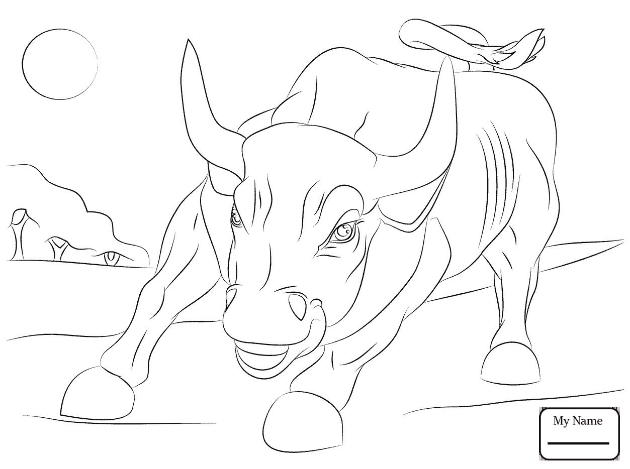 1253x934 Skill Bucking Bull Coloring Pages Mammals Azco