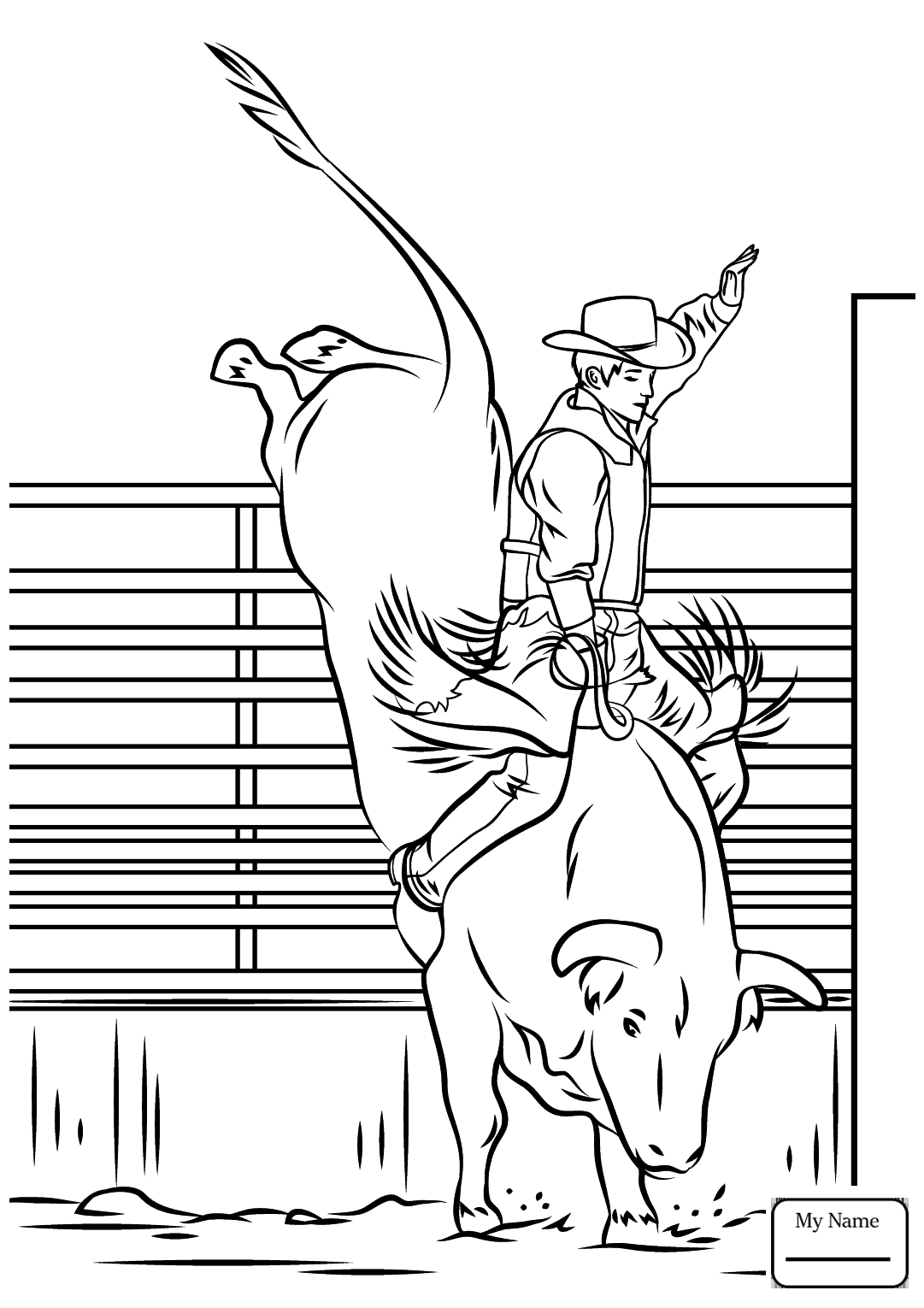 1081x1530 Strong Bucking Bull Coloring Pages