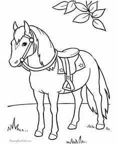 236x288 Front View Mare Colt Horse Coloring Pages Western Horse