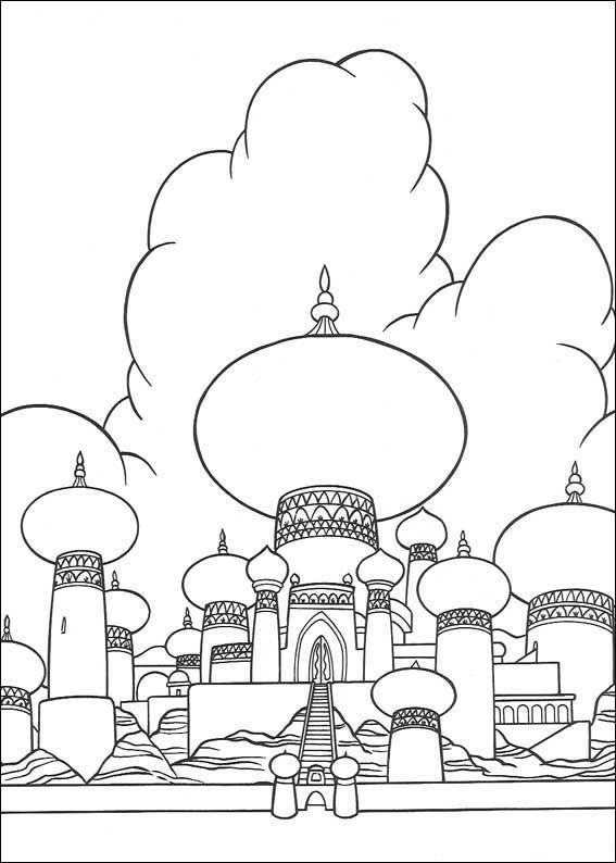 567x794 Coloring Page Aladdin Aladdin Coloring Pages Craft