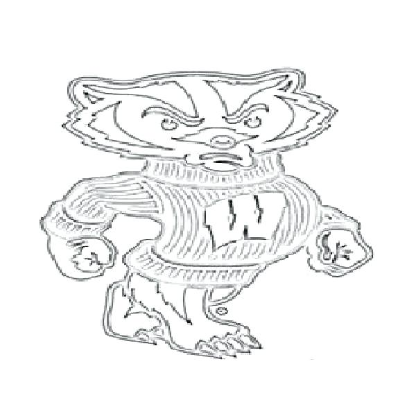 600x600 Badger Coloring Page Printable Badger Coloring Pages Sticks