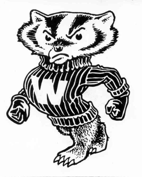 600x749 Bucky Badger Coloring Pages